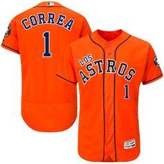 Carlos Correa Houston Astros Majestic Hispanic Heritage Flex Base Player Jersey - Orange - $324.99