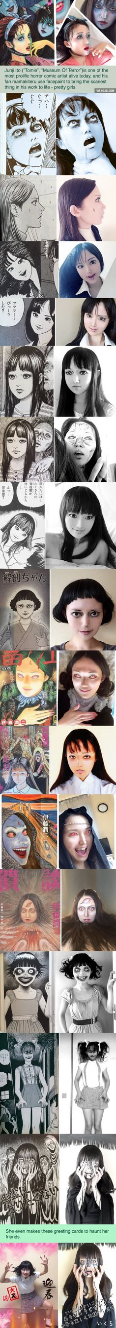 Talented girl's Junji Ito cosplay will haunt your dreams (By Mamakiteru)