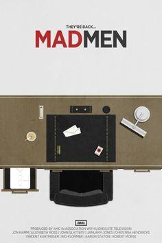 Mad Men ~ Season 5 ~ Minimal TV Series Poster by Brock Weaver