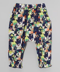 This Navy Geometric Harem Pants - Infant, Toddler & Kids by Leighton Alexander is perfect! #zulilyfinds