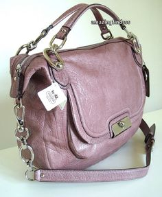 Coach KRistin Round Satchel in Mauve - for spring!
