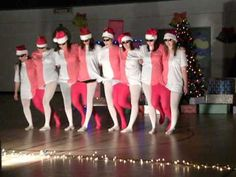 The staff at GGEC did this dance for our school Christmas concert Ward Christmas Party, Christmas Dance, Christmas Program, Christmas Concert, Christmas Bells, Family Christmas, Illusion Costumes, Dance Humor, Talent Show