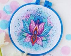DIY full embroider kits for beginners super gift by TroyandaGifts Cross Stitch Kits, Gift Boxes, Cross Stitching, Etsy Seller, Embroidery, Creative, Handmade Gifts, Pattern, Diy