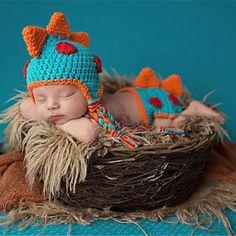 Dinosaur Crochet Newborn Baby Photo Prop