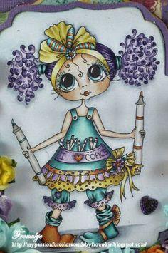 Bestie close-up by Frouwkje van Keeken... see entire door-hanger in her blog post