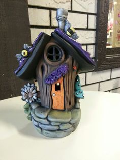 1 million+ Stunning Free Images to Use Anywhere Clay Houses, Ceramic Houses, Ceramic Clay, Ceramic Painting, Polymer Clay Fairy, Polymer Clay Crafts, Diy Clay, Clay Fairy House, Fairy Houses