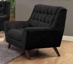 Natalia Arm Chair in Black – Simply Austin Furniture
