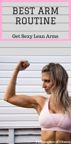 Want Sexier Arms? Check Out This Arm Routine That Will Help Melt The Fat Off Of Your Arms! #fitness #armworkouts #workoutroutines #exercises