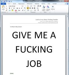 What a cover letter