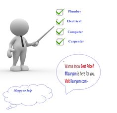 kaaryam provides the best price solution of daily home issues.