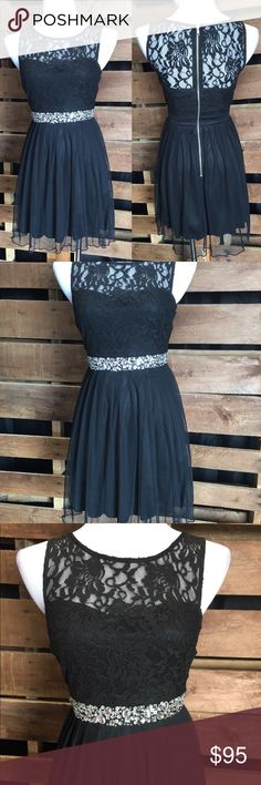 Black Party Dress - Speechless Beautiful black semi-formal with silver bling from Speechless, size 3, NWT. Exposed silver zipper up the back, very Cute! Speechless Dresses Mini