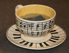 Great gift for a music teacher. Decorate with Sharpie and bake.