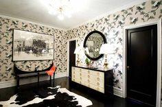 White Walls Black Interior Doors Design Ideas