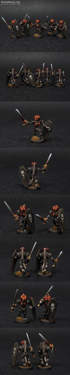 Necron Lychguards of the Pumpkin Dynasty (Halloween)