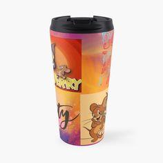 'tom and Jerry cartoon design ' Travel Mug by Madhuri Mahajan Tom And Jerry Cartoon, Art Text, Cartoon Design, Iphone Wallet, Travel Mug, Toms, My Arts, Art Prints, Printed