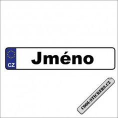 SPZ s libovolným textem Cool Stickers, Personal Care, Self Care, Personal Hygiene