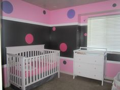 Baby girl room Pink and gray