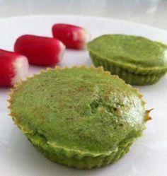 Photo de la recette : Muffins au pesto de fanes de radis