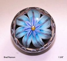 Artist ~ Brad Pearson ~ Flower top view Marble Board, Glass Marbles, Boro, Glass Ball, Top View, All Art, Contemporary Art, Whimsical, Fancy