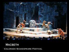 Andrea Bechert at Colorado Shakespeare Festival, Macbeth scenic design.