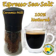 Espresso Sea Salt Grinder 100 Grams (3.5oz)