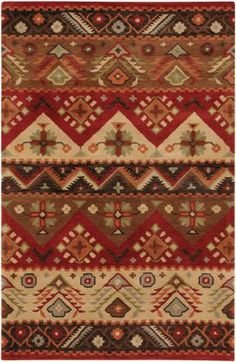 Click above image to enlarge  Rug Pad  Surya Dream Dream 381 Red Rug