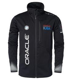 Oracle Team USA Softshell Jacket by Sail Racing - Choice Gear Motorsport Clothing, Sail Racing, Sailing Gear, Team Usa, Softshell, Bmw Logo, Zip Hoodie, Gears, Motorcycle Jacket