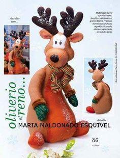 RENO OLIVERIO Christmas Humor, Christmas Crafts, Christmas Decorations, Xmas, Christmas Ornaments, Holiday Decor, Amigurumi Patterns, Doll Patterns, Felt Crafts