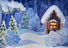 Best ideas for winter art painting scene