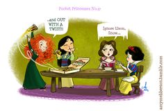 Pocket Princess | amymebberson.tumblr.com  {pinned by www.thedisneykids.com} #DisneyHumor #AmyMebberson #PocketPrincess