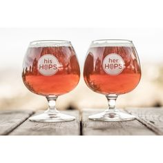 Wedding season is upon us. Check out our His/Her Hops snifter set from BottleTrade for all the craft beer couples out there!