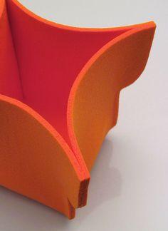 orange l  large felt pot cover  color orange by FMLdesign on Etsy, €19.00