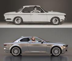concept car by David Obendorfer, Hungary - BMW 2000 CS (1960) redesign