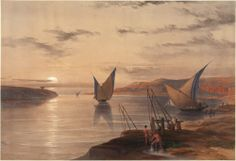 David Roberts RA (1796-1864) and Louis Haghe. Hager Setsilis. #egypt