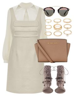 """""""Untitled #1504"""" by erinforde ❤ liked on Polyvore featuring Temperley London, MICHAEL Michael Kors, Forever 21, Christian Dior, topshop, topshopunique and aw2015"""