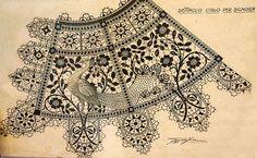 N e e d l e p r i n t: Aemilia Ars Peacock Lace Design - Free Jigsaw Download