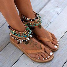 Greek leather sandals boho sandals women shoes handmade to etsy. Gladiator Sandals Heels, Boho Sandals, Flat Sandals, Leather Sandals, Shoes Sandals, Women Sandals, Shoes Women, Beach Sandals, Ladies Shoes