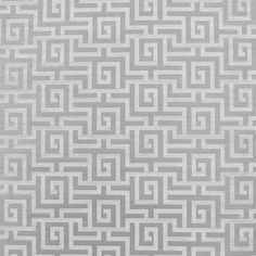 "Clarence House ""Labyrinth"" wallpaper in greystone"