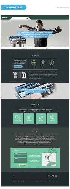 Electros Fitness Website - Portfolio of Janos Koos - UI/Web, Logo & Graphic Designer