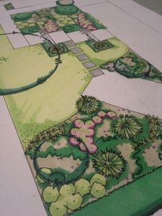 Garden Design Layout - New ideas Landscape Architecture Drawing, Landscape Sketch, Landscape Design Plans, Garden Design Plans, Garden Architecture, Landscape Drawings, Concept Architecture, Garden Design Software, Famous Architecture