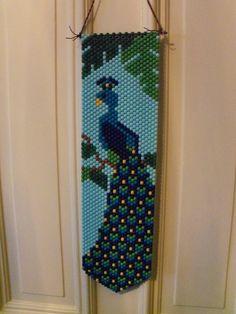 Peacock Beaded Banner. $20.00, via Etsy.