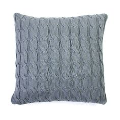You'll want to wrap your arms around our cable knit pillow to keep warm at night. Its chunky pattern adds texture to your décor without distracting. Arrange it with your sofa pillows to create an invit...  Find the Hemingway Cable Knit Pillow Cover, as seen in the Open Concept Living Collection at http://dotandbo.com/collections/blueprints-open-concept-living?utm_source=pinterest&utm_medium=organic&db_sku=91588