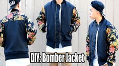 How to Make a Bomber Jacket from Scratch. Looks good on guys and girls. I need to try this!