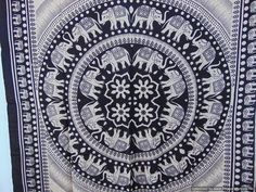 Tablecloths – Indian Elephant Tapestry/Hippy Tapestry  54 x 84  – a unique product by IndianCraftPalace on DaWanda
