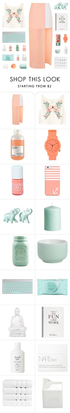"""""""~ O1O916"""" by khieug ❤ liked on Polyvore featuring Topshop, H&M, Davines, Komono, Boohoo, Casetify, CB2, Estée Lauder, Lalique and Selfridges"""