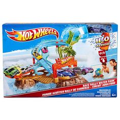 Hot Wheels Race Rally Water Park Play Set  *My son has this and plays with it almost everyday. It really does float!!! You can use it in the pool, the tub and on land.