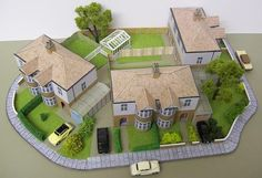 British Building Paper Models for Diorama Free Templates Download Here are lots of British building paper models, created by Kingsway, the scale is in 1:87 (H0). They are perfect for Railway Models, Dioramas, RPG and Wargames.