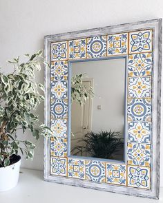1 million+ Stunning Free Images to Use Anywhere Ceramic Tile Art, Ceramic Painting, Mirror Tiles, Diy Mirror, Diy Wall Art, Wall Decor, Room Decor, Tile Crafts, Frame Crafts