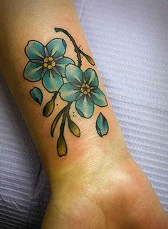 gettattoosideas.com/wrist-flower-tattoos/ Glorious Wrist Flower Tattoos (25)