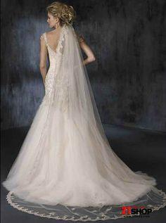 http://www.alinesatinweddingdress.com/images/Maternity-Wedding-Dresses/Cheap-Princess-Ivory-cap-sleeve-style-Appliques-bodice-and-tulle-skirt-trumpet---Mermaid-Wedding-Gown-model-20120999-1.jpg